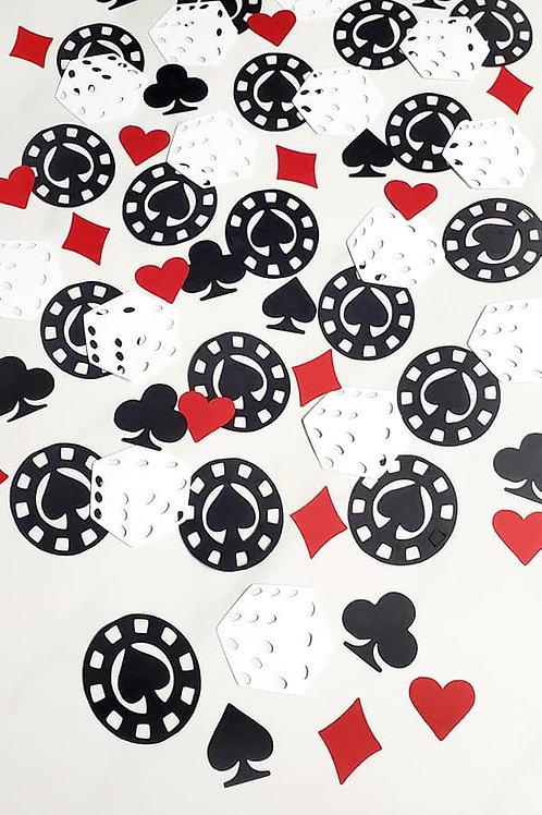 Casino Theme Scrapbook Page Confetti