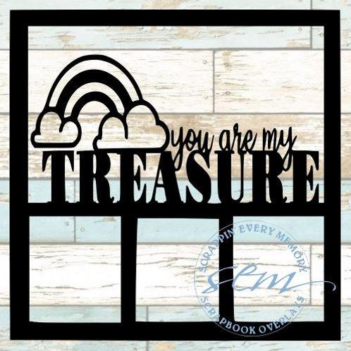 You Are My Treasure Scrapbook Overlay