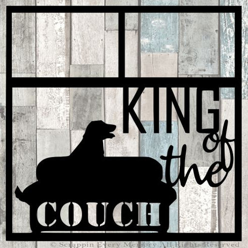 King Of The Couch Scrapbook Overlay