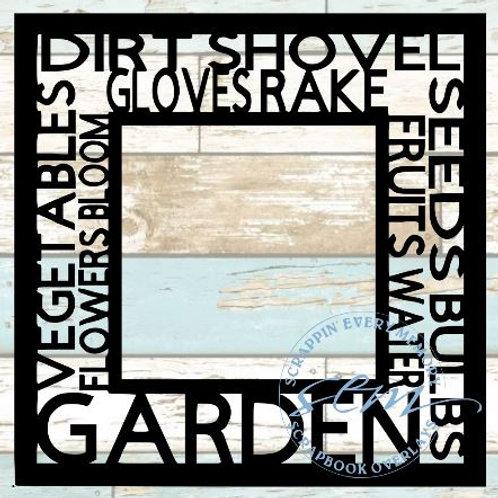 Garden Tag Text Scrapbook Overlay