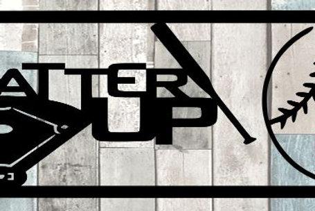 Batter Up Scrapbook Title