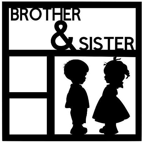 Brother & Sister Scrapbook Overlay