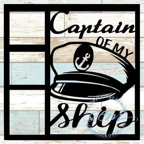 Captain Of My Ship Scrapbook Overlay