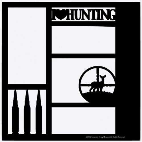 I Love Hunting Scrapbook Overlay