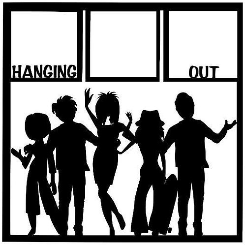 Hanging Out Scrapbook Overlay