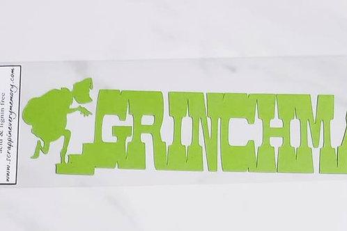 Grinch Scrapbook Deluxe Die Cut