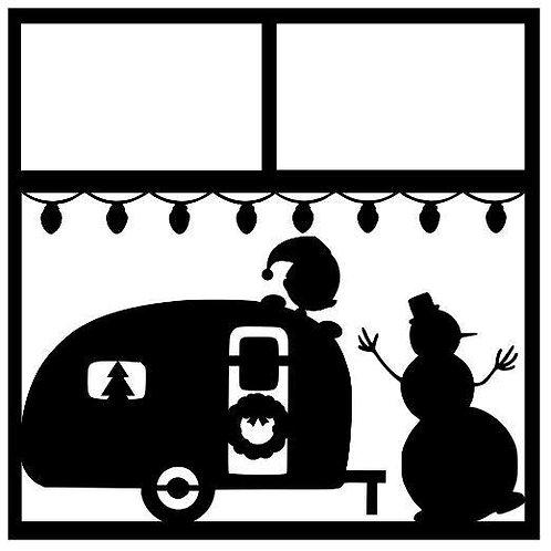 Christmas Camper Scrapbook Overlay