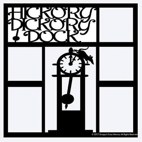 Hickory Dickory Dock Scrapbook Overlay