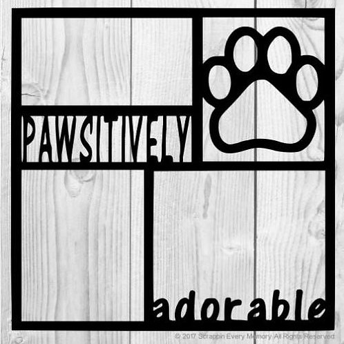 Pawsitively Adorable Scrapbook Overlay