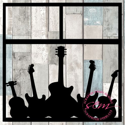 Guitars Scrapbook Overlay
