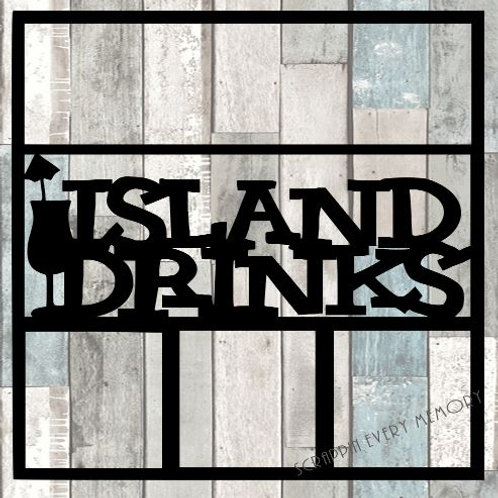 Island Drinks Scrapbook Overlay