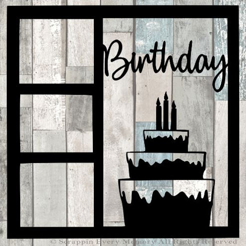 Birthday Scrapbook Overlay