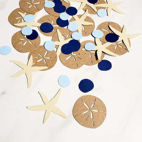Beach Theme Scrapbook Page Confetti