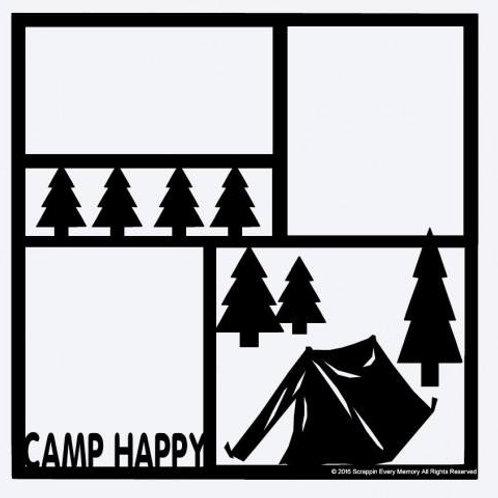 Camp Happy Scrapbook Overlay
