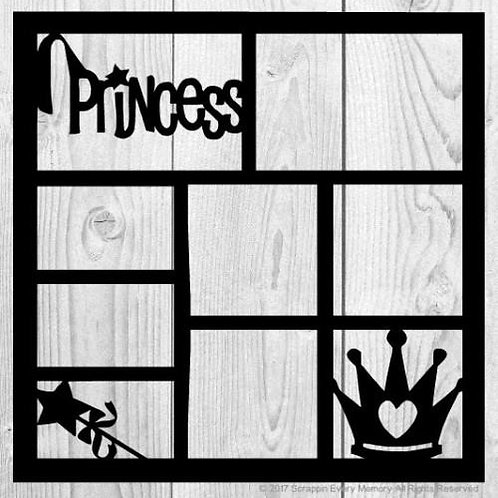 Princess Scrapbook Overlay