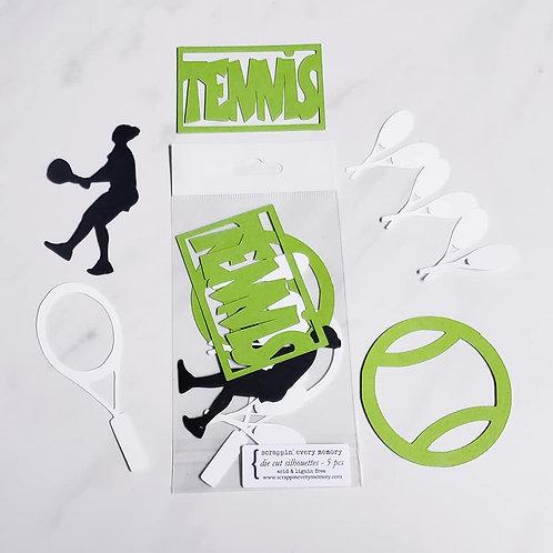 Tennis Die Cut Silhouette Mini Set