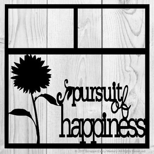 Pursuit Of Happiness Scrapbook Overlay