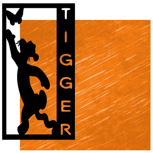 Tigger Vertical Scrapbook Title