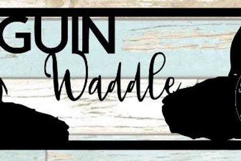 Penguin Waddle Scrapbook Title