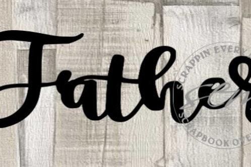 Father Scrapbook Page Script Single