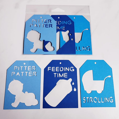 Baby Boy Deluxe Word Tags