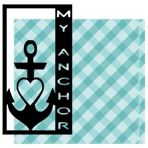 My Anchor Vertical Scrapbook Title