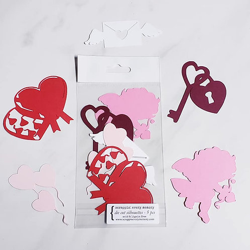 Valentine's Die Cut Silhouette Mini Set
