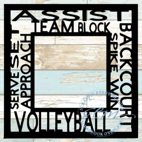 Volleyball Tag Text Scrapbook Overlay