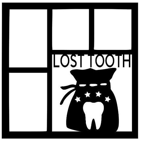 Lost Tooth Scrapbook Overlay