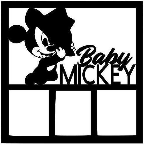 Baby Mickey Scrapbook Overlay