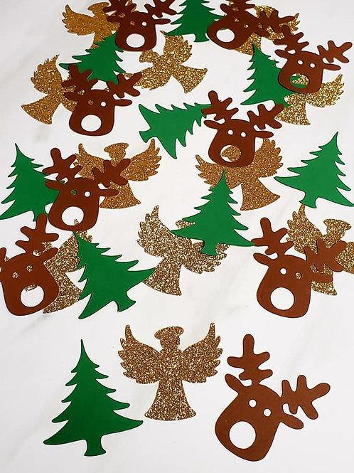 Christmas Theme Scrapbook Page Confetti