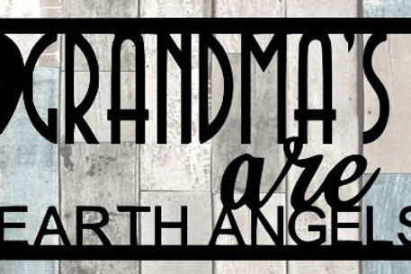 Grandma's Are Earth Angels Scrapbook Title