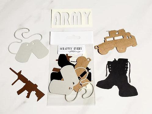 Army Die Cut Silhouette Mini Set