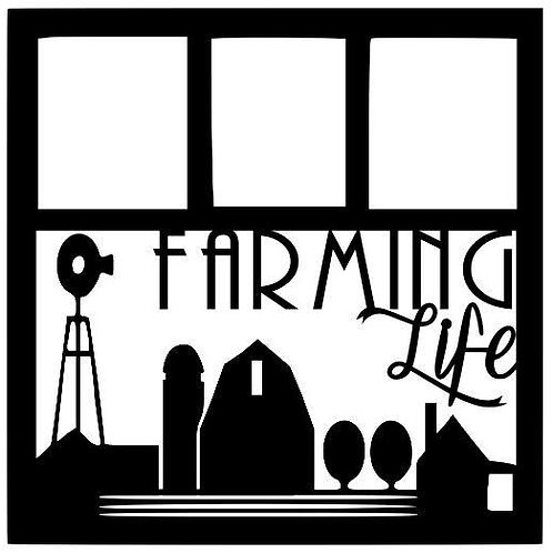 Farming Life Scrapbook Overlay
