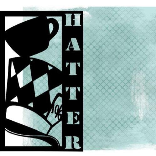 Hatter Vertical Scrapbook Title