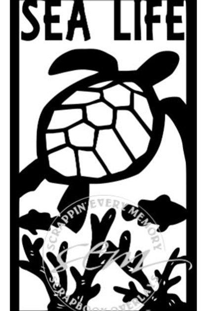 Sea Life Vertical Scrapbook Title