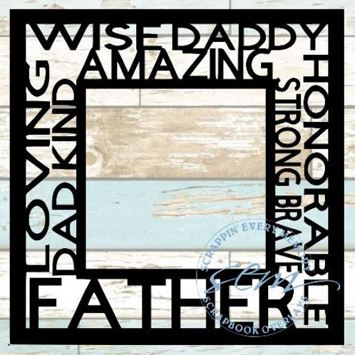 Father Tag Text Scrapbook Overlay