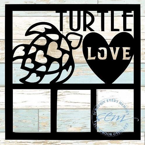 Turtle Love Scrapbook Overlay