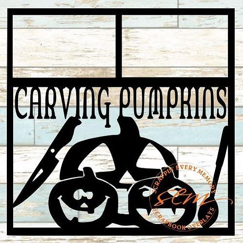 Carving Pumpkins Scrapbook Overlay