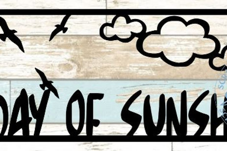 A Day Of Sunshine Scrapbook Title