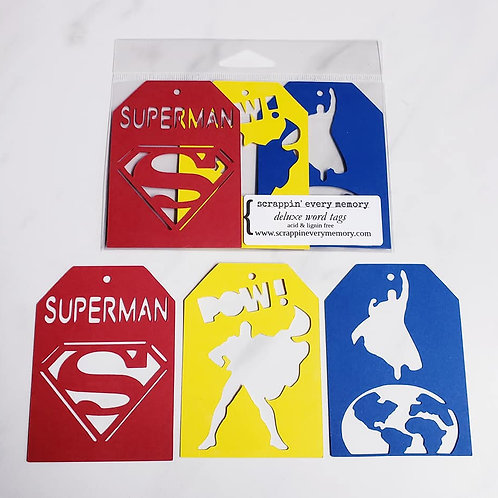 Superman Deluxe Word Tags