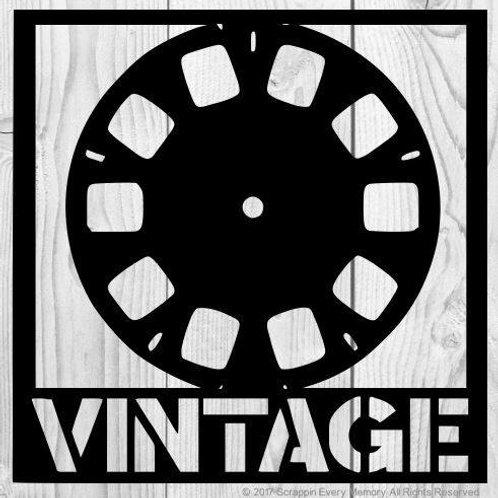 Vintage View Master Scrapbook Overlay