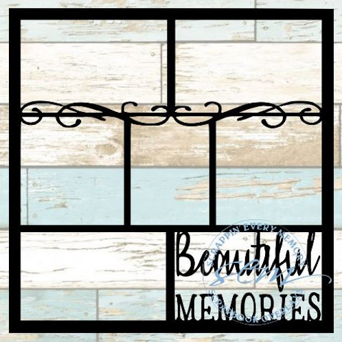 Beautiful Memories Scrapbook Overlay