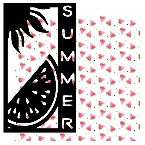 Summer Vertical Scrapbook Title
