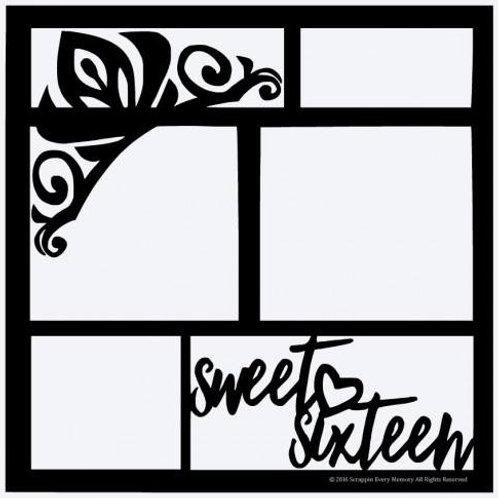 Sweet Sixteen Scrapbook Overlay