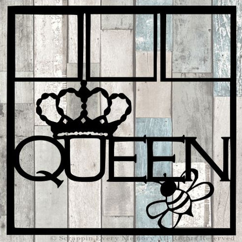 Queen Bee Scrapbook Overlay