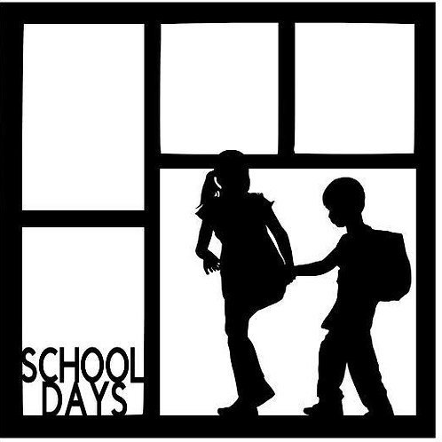 School Days Scrapbook Overlay