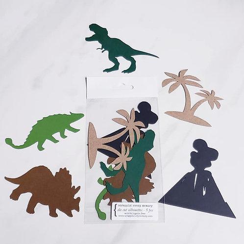Dinosaurs Theme Die Cut Silhouette Mini Set