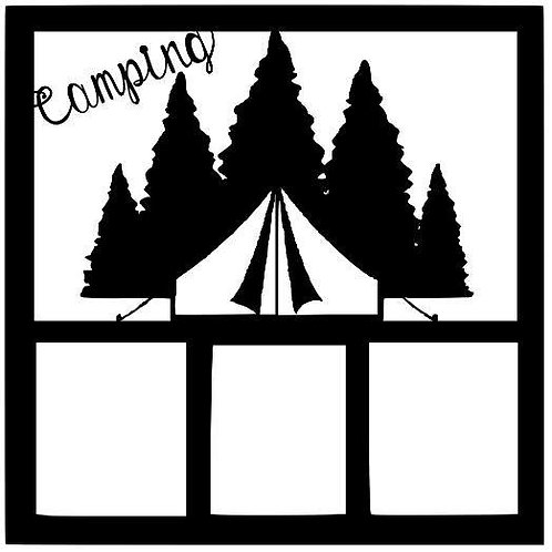 Camping Scrapbook Overlay