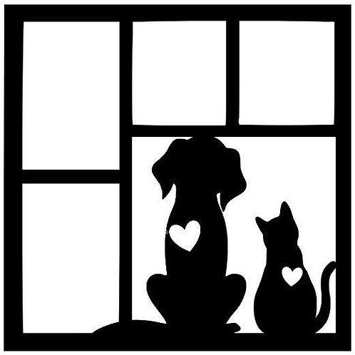 Cat & Dog Scrapbook Overlay